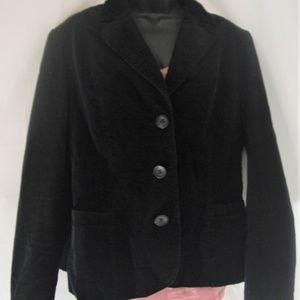 Women's Zara Basic Corduroy Black Blazer Size XL